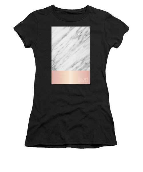Real Italian Marble And Pink Women's T-Shirt