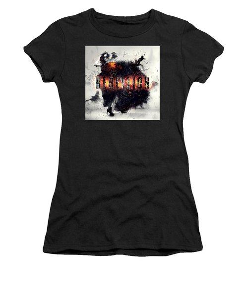 Women's T-Shirt (Junior Cut) featuring the digital art Rebellion by Mo T