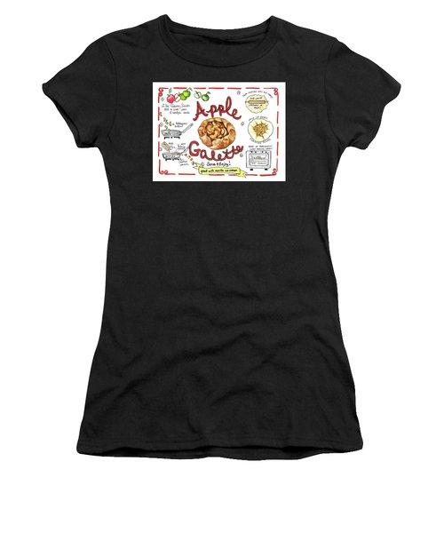 Recipe- Apple Galette Women's T-Shirt (Athletic Fit)