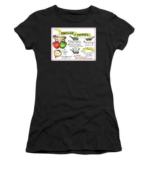 Recipe Sausage And Peppers Women's T-Shirt