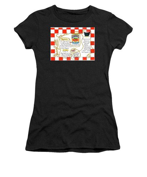 Recipe -spaghetti Sauce  Women's T-Shirt