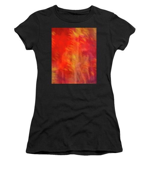 Red Abstract Women's T-Shirt