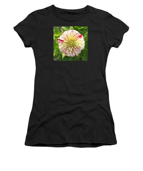 Red And White Flower Women's T-Shirt (Athletic Fit)