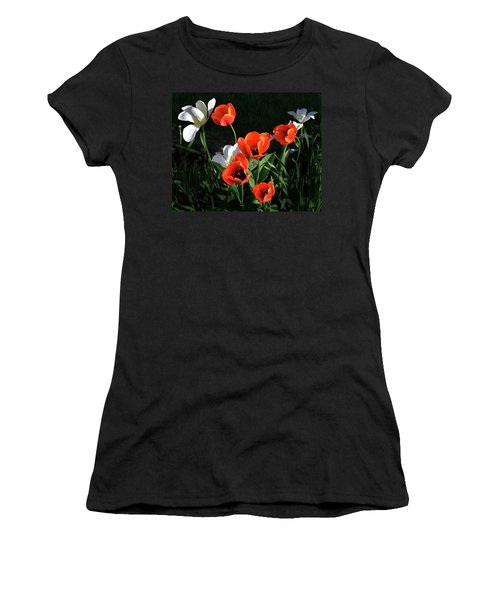 Red And White Tulips Women's T-Shirt (Athletic Fit)
