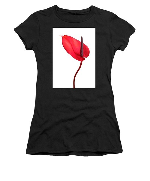Red Anthrium Women's T-Shirt (Athletic Fit)