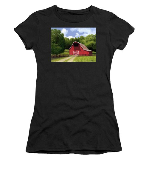 Red Barn In Franklin Tn Women's T-Shirt (Athletic Fit)