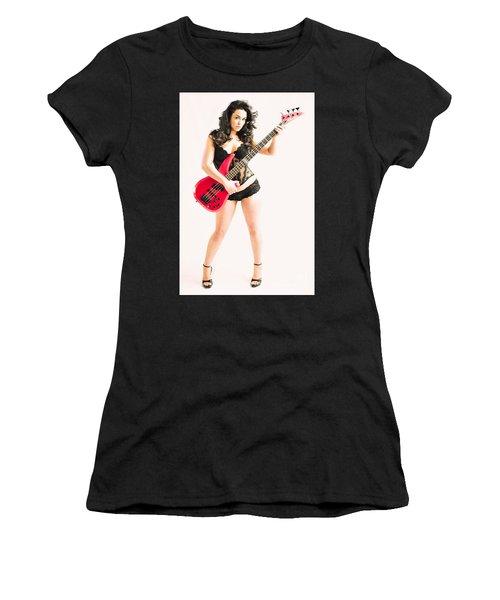 Red Bass Guitar Women's T-Shirt