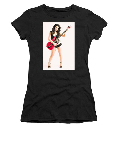 Red Bass Guitar Women's T-Shirt