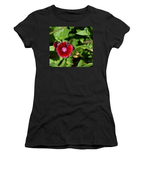 Red Bloom Women's T-Shirt (Athletic Fit)