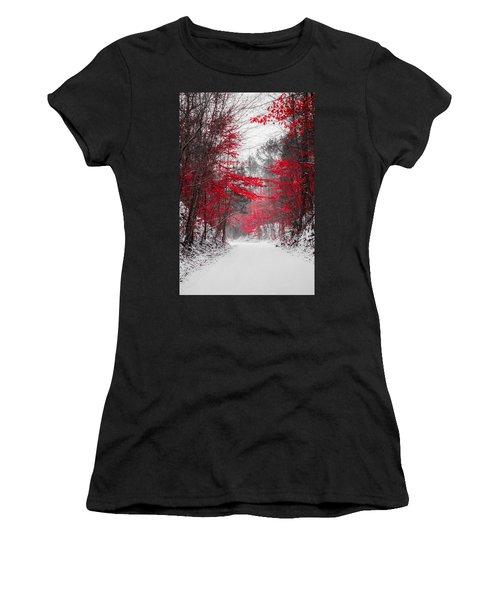 Red Blossoms  Women's T-Shirt
