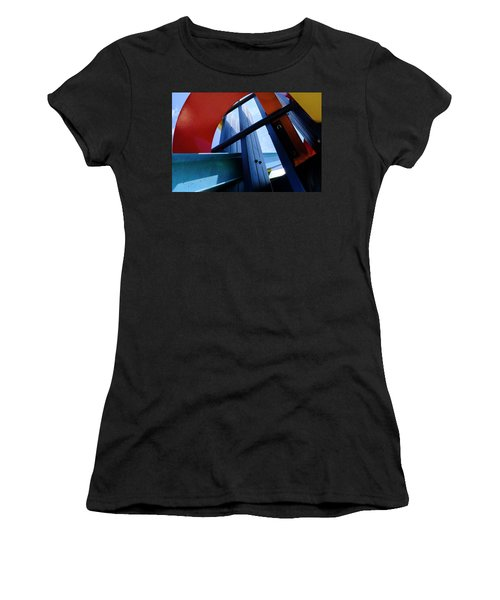 Red Blue And Yellow In Downtown Orlando Florida Women's T-Shirt