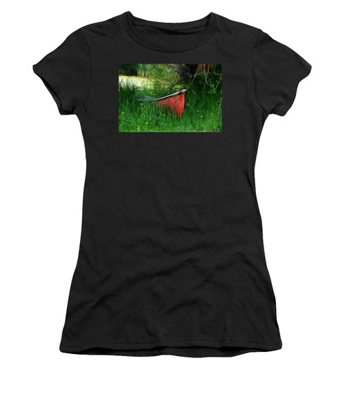 Red Canoe Women's T-Shirt (Athletic Fit)