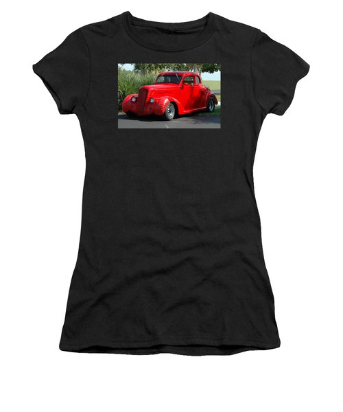 Red Car Women's T-Shirt (Athletic Fit)