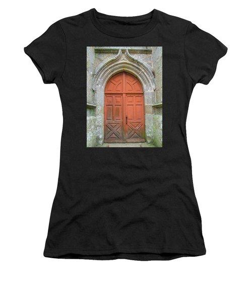 Red Church Door IIi Women's T-Shirt (Junior Cut) by Helen Northcott