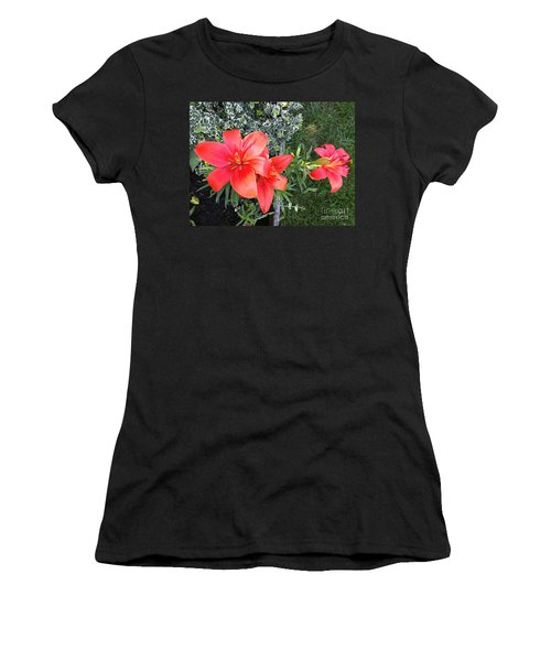 Red Day Lilies Women's T-Shirt