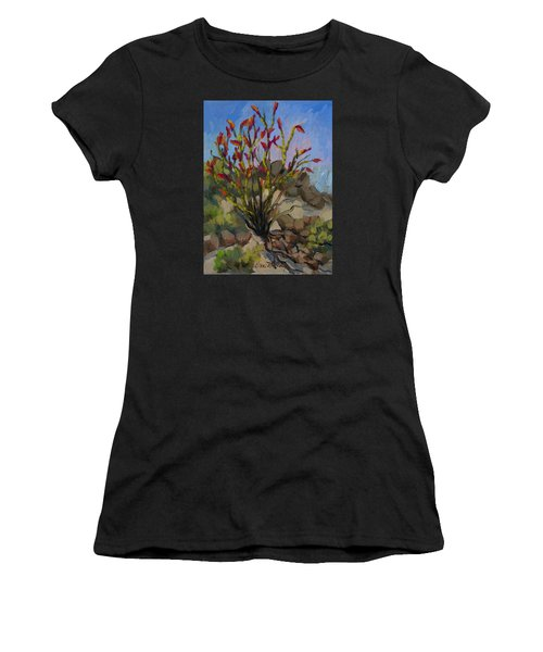 Red Flame Ocotillo 5 Women's T-Shirt