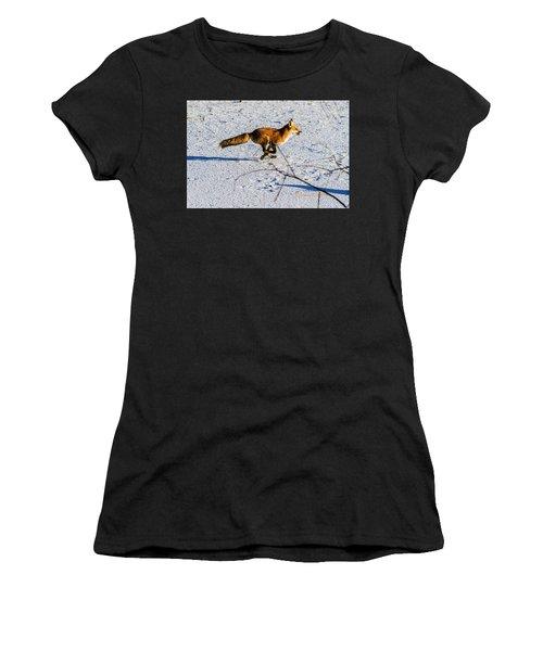 Red Fox On The Run Women's T-Shirt