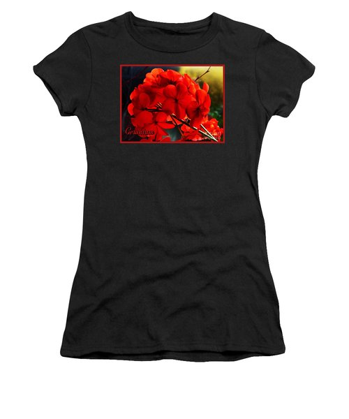 Red Geranium Women's T-Shirt (Athletic Fit)