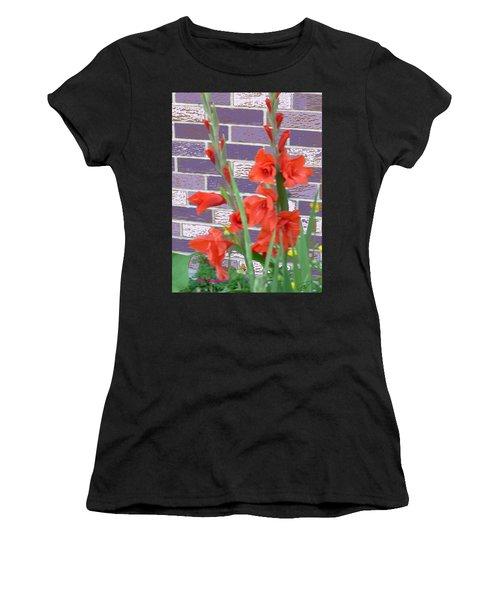 Red Gladiolas Women's T-Shirt