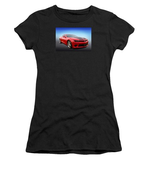 Women's T-Shirt (Junior Cut) featuring the photograph Red Hot Camaro by Keith Hawley