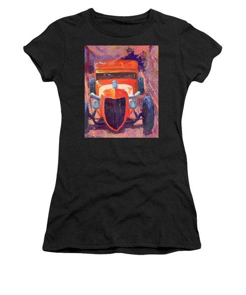 Red Hot Rod Sedan Women's T-Shirt