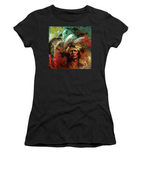 Red Indians 02 Women's T-Shirt (Athletic Fit)