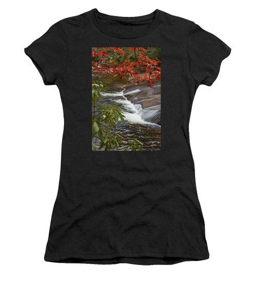 Red Leaf Falls Women's T-Shirt