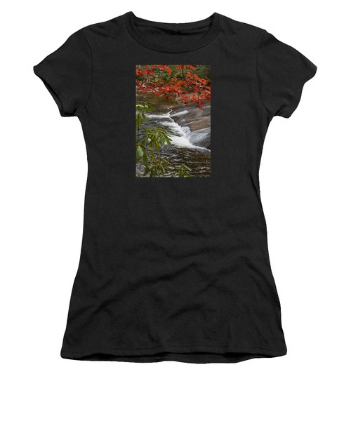 Red Leaf Falls Women's T-Shirt (Athletic Fit)