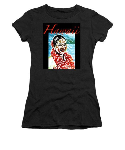 Red Lei T-shirt Women's T-Shirt (Junior Cut) by James Temple