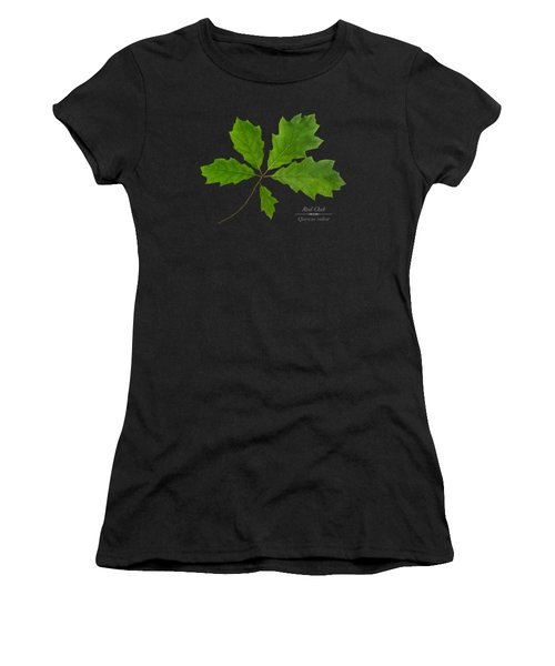 Red Oak Leaves Women's T-Shirt