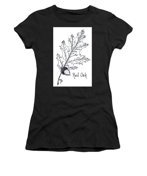 Red Oak Leaf And Acorn Women's T-Shirt