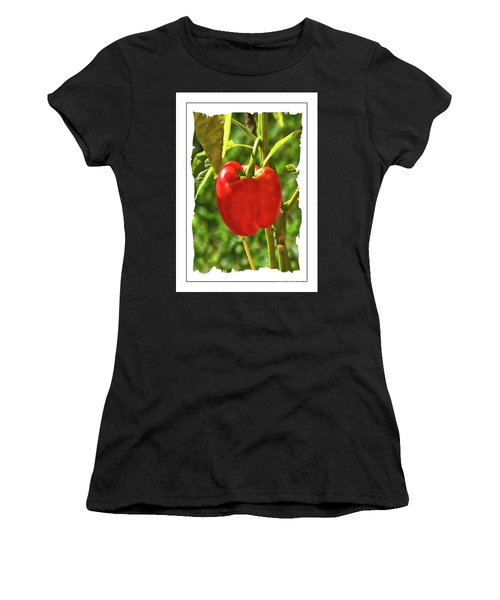 Red Pepper On The Vine Women's T-Shirt (Athletic Fit)