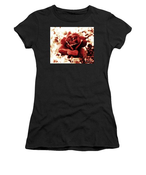 Red Petals Women's T-Shirt (Athletic Fit)