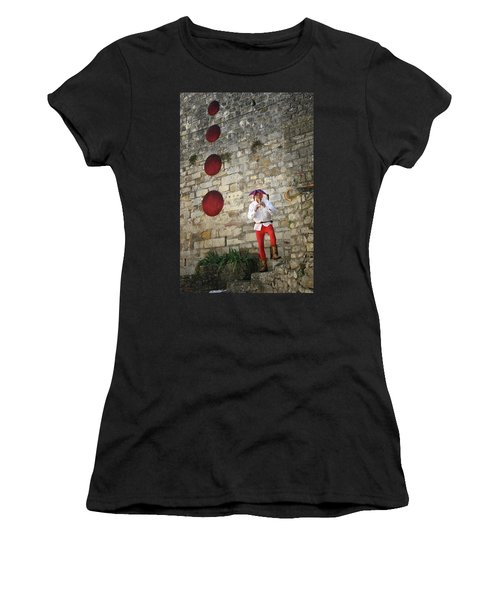 Women's T-Shirt featuring the photograph Red Piper by Rasma Bertz