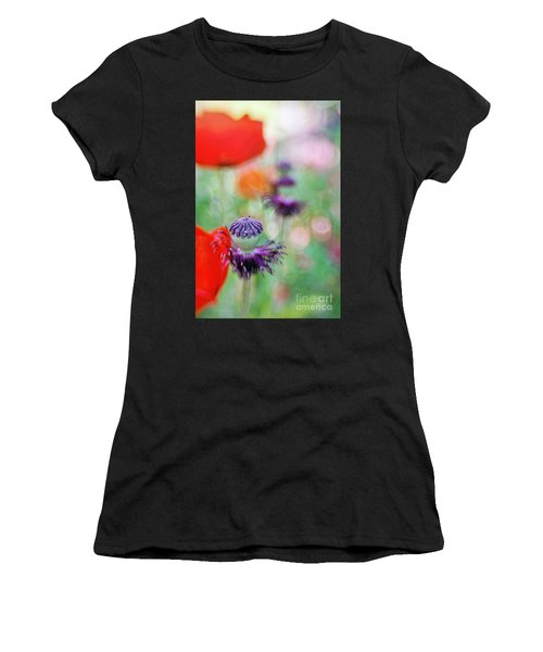 Red Poppies Women's T-Shirt (Athletic Fit)
