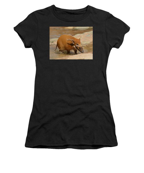 Red River Hog  Women's T-Shirt (Athletic Fit)