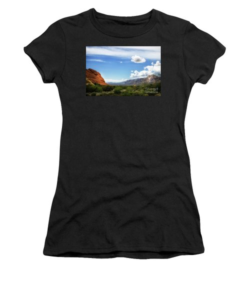 Red Rock Canyon Vintage Style Sweeping Vista Women's T-Shirt