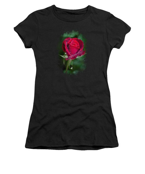 Red Rose Watercolor Art Women's T-Shirt