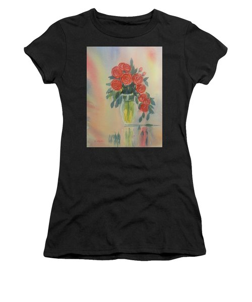 Red Roses For My Valentine Women's T-Shirt (Athletic Fit)