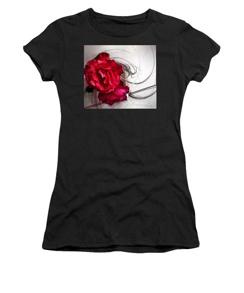 Red Roses Women's T-Shirt (Junior Cut) by Susan Kinney
