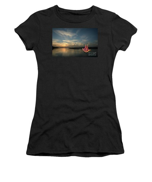 Women's T-Shirt (Athletic Fit) featuring the photograph Red Sails In The Sunset by Carol Lynn Coronios