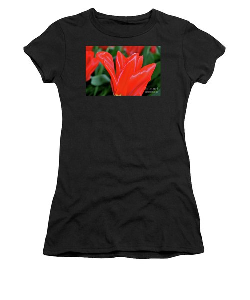 Red Satin Women's T-Shirt (Athletic Fit)