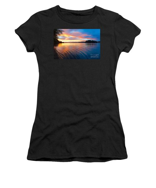 Red Sky At Night Women's T-Shirt (Junior Cut) by Sean Griffin