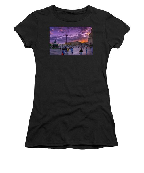 Red Square At Sunset Women's T-Shirt