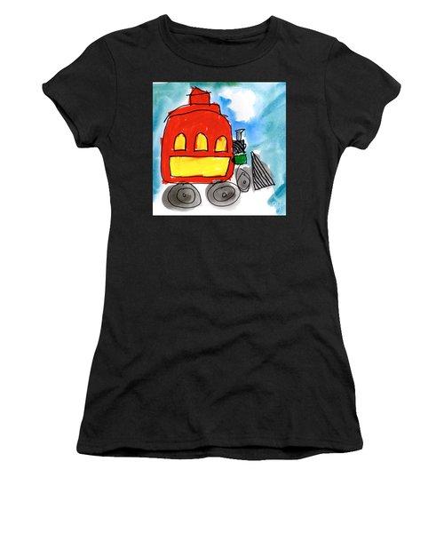 Red Train Women's T-Shirt