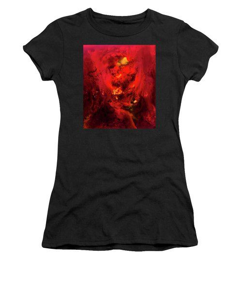 Red Universe Women's T-Shirt (Athletic Fit)