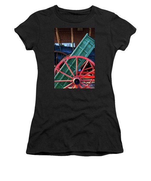 Red Wagon Wheel Women's T-Shirt
