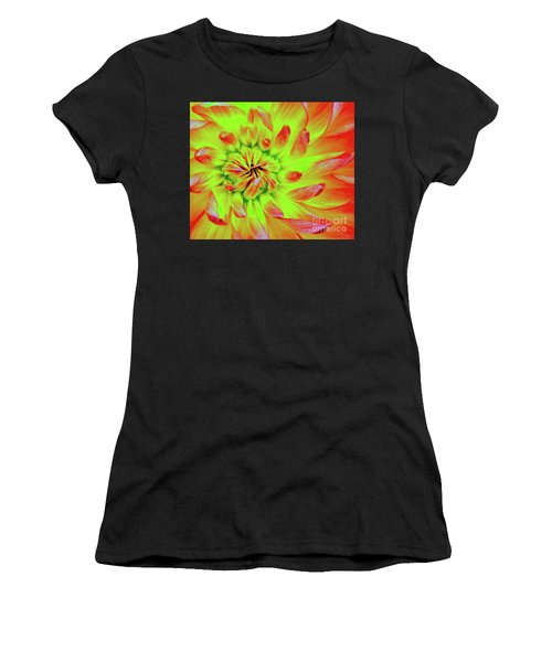 Red Whirl Women's T-Shirt (Athletic Fit)