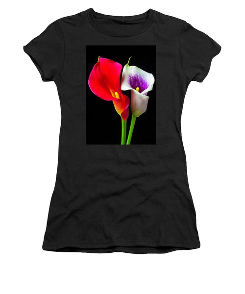 Red White And Purple Calla Lilies Women's T-Shirt
