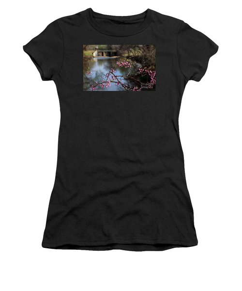 Redbuds And An Old Bridge Women's T-Shirt (Athletic Fit)